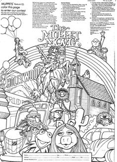 movie theme coloring pages - photo#13