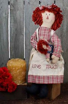 free patterns for andy and annie dolls   ... Raggedy Annie Doll with Andy Doll - Primitive Dolls - Primitive Decor