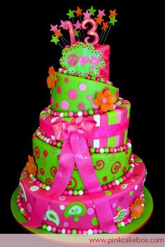Like this colorfull cake !