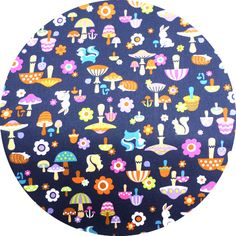 Cosmo Textiles, Shroom and Friends Navy