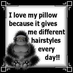 pillows and hairstyles