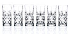 RCR Crystal Melodia Collection High Ball Glass Set: RCR Crystal set of 6 high ball glasses. Made in Florence Italy. Crystal Glassware, Italian Home, Highball Glass, Water Glass, Home Trends, Glass Vase, Crystals, Glasses, Antiques