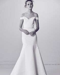 Alyne by Rita Vinieris Spring 2018 Wedding Dress Collection   Martha Stewart Weddings – Off-the-shoulder trumpet wedding dress