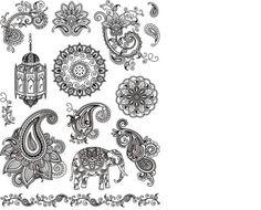 """Silikon Stempel Silikonstempel """"Indien, Elefant, Muster"""" Papierstempel - Viva   eBay"""