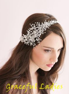 Handmade Crystal Ice Bridal Sparking Headpiece Beaded Wedding Tiaras & Hair Accessories | Buy Wholesale On Line Direct from China