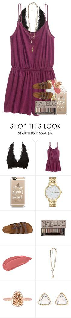 """just started watching PLL❤️"" by ellaswiftie13 ❤ liked on Polyvore featuring Charlotte Russe, H&M, Casetify, Kate Spade, Birkenstock, Urban Decay and Kendra Scott"