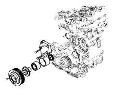 Engine Cooling Fan Pulley Mopar 4429946