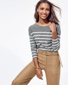 "The J.Crew women's deck striped T-shirt. For that ""Oh hey, just wandered off my yacht"" kind of vibe."