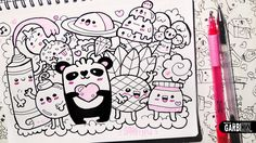 Follow the Panda! - Hello Doodles - Easy and Kawaii Drawings by Garbi KW Sigue al Panda - Hola Garabatos - Dibujos Fáciles y Kawaii por Garbi KW Facebook: ht...