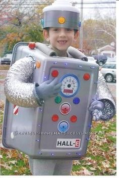 We followed directions provided on this website to create our son's very cool robot costume.  His costume was such a hit that he led the elementary s...