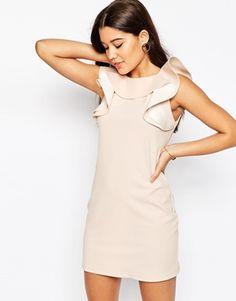 ASOS Shift Dress with Ruffle Neckline