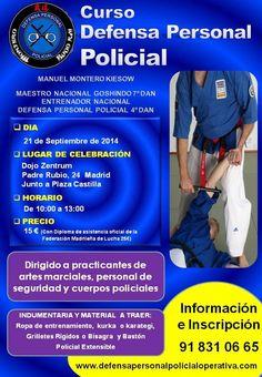 Curso de Defensa Personal Policial en septiembre de 2014 en Madrid