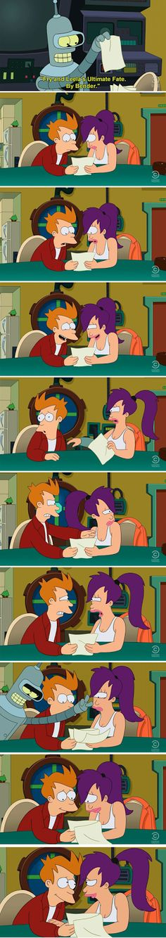 Fry and Leela's ultimate fate.