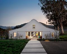 Fabulous Barn House Plans with Basement That Really Awesome: Breathtaking Barn House Landscape Architect Landscape Design Ideas Landscape Ideas For Front Of House Cement Walkway Green Grass ~ curveriderhq.com Houses Inspiration