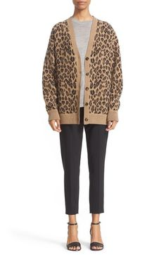 Image result for Alexander Wang leopard cardigan