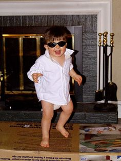 Real Kids: Best Baby Halloween Costumes: Risky Business (via Parents.com) Haha!