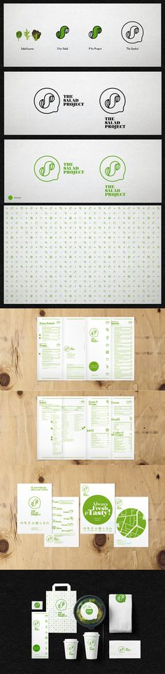 Logo and identity for The Salad Project by the Comeback Studio