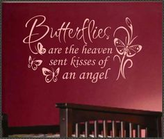 :Butterflies: :Love this quote about butterflies! Perfect for a nursery. #nursery #butterflies #quote