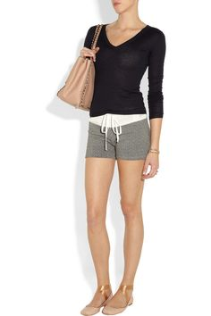 CLU|Drawstring cotton-blend terry shorts|NET-A-PORTER.COM