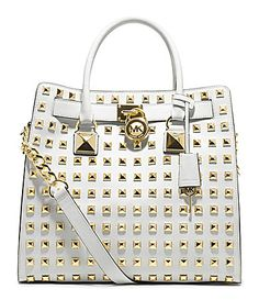 bought this in black. Love it to death-MICHAEL Michael Kors Studded Hamilton Tote Bag