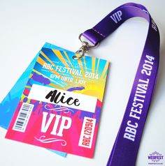 Corporate Event Festival Style Lanyards - wedfest - http://www.wedfest.co/corporate-event-festival-style-lanyards/