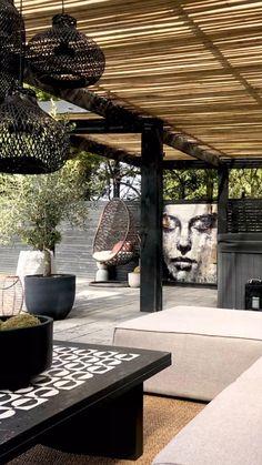 Back Garden Design, Modern Garden Design, Modern Pergola Designs, Modern Landscape Design, Backyard Patio Designs, Backyard Landscaping, Patio Fence, Cozy Backyard, Outdoor Pergola
