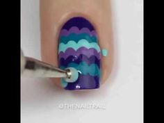 beautiful and  colorful design nail art