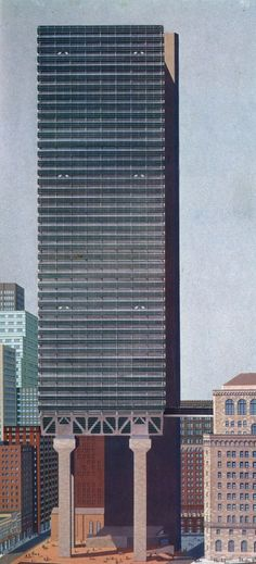 Kevin Roche, Project for The Federal Reserve Bank of New York, New York, 1969