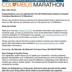 "jciroli: ""October marathon registered. Here I come. From Pittsburgh to #CMNation"" Pittsburgh, PA"
