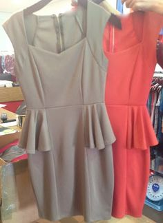 More adorable peplum dresses headed our way!