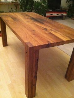 Custom Made Reclaimed Parsons Table