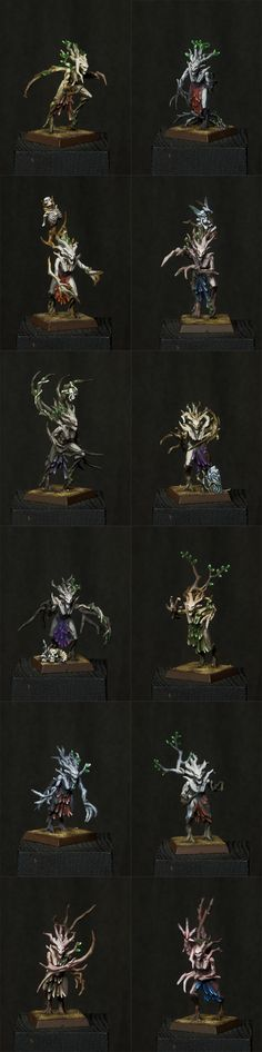 Wood Elf Dryads by Vanxee.deviantart.com on @DeviantArt