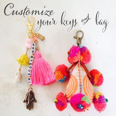 Custom made keychains & fairtrade Bali keychain http://www.bysoos.nl
