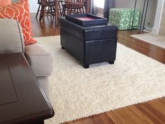 Living Room Idea: click-together floors = easy DIY upgrade!