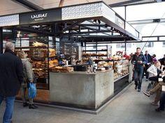 Precedent/ Torvehallerne Copenhagen by architect Hans Hagens Kiosk Design, Hall Design, Retail Design, Food Court Design, Mall Kiosk, Airport Food, Food Kiosk, Food Park, Interior Desing