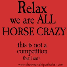 We are all horse Crazy!  www.showmanshipathalter.com