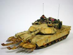 David Porter's online modelling portfolio; 1/35 Scale Dragon M1A2 Abrams SEP w/Tamiya Mineplow 'Armor Ghetto'. Figures by Verlinden