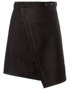 Black Leather Skirt 10 BLK DNM