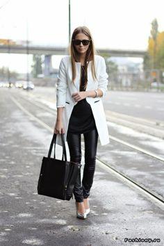 Вторая кожа . Кожаные брюки / лосины фэшиони