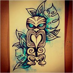 Going tiki mad at the moment...just a sketch by me...