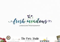 Watercolor Typographic Ink Brush Logo Design