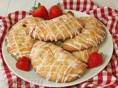 Strawberry Hand Pies  with flaky cream cheese crust | From SugarHero.com