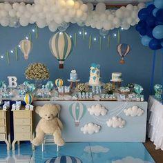 Ursinho baloeiro para o primeiro aninho de Bernardo! #festabaloes#baloes#festademenino#ursinhobaloeiro#baloeiroparty