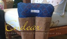 Boots Up by Endear Me Handmade boot stuffer in Blue by EndearMe