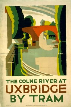"E. McKnight Kauffer  1924 (Post-Cubist Pictorial Modernism) ""London Underground poster"""