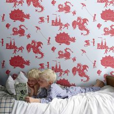Wallpaper for Boys Rooms - Great modern and fun range of stickers and wallpaper online at Nubie