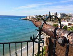 Beautiful sea view from Balcon de Europa, Nerja Nerja, Wind Turbine, Beautiful, Europe