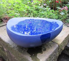 "Merete Rasmussen - ""Dark blue bird bath."" 2011. The Scottish Gallery, Edinburgh - Contemporary Art Since 1842"