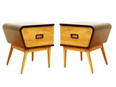 1950's style bedside cabinets