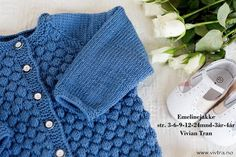 Ravelry: Emelinejakke by Vivian Tran Baby Boy Knitting, Knitting For Kids, Baby Knitting Patterns, Free Knitting, Crochet Baby, Knit Crochet, Diy Crafts Knitting, Dere, Crochet Books